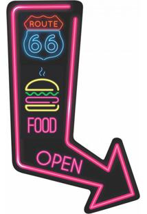 Placa Decorativa Route Food Colorida