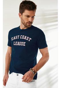 Camiseta Azul Tradicional Decote Redondo Malwee