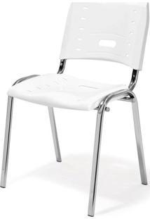 Cadeira Elo Polipropileno Branco Base Cromada 17577 Sun House