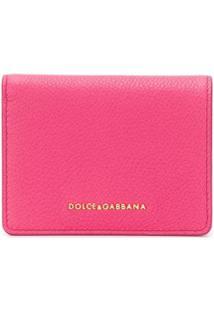 Dolce & Gabbana Carteira Pequena Com Logo - Rosa