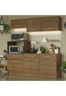 Cozinha Compacta Madesa Onix 180001 Com Armã¡Rio E Balcã£O - Rustic Marrom - Marrom - Dafiti