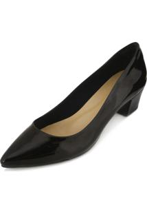 Scarpin Lady Queen Am18-41001 Verniz Preto