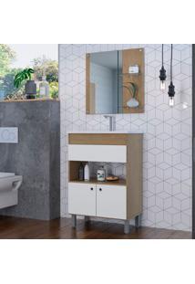 Gabinete De Banheiro Castro 2 Pt Brunne E Branco 90X61 Cm