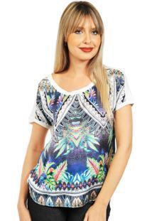 Blusa 101 Resort Wear Estampada Multicolorido