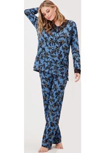 Pijama Joge Longo Multicolorido - Multicolorido - Feminino - Dafiti