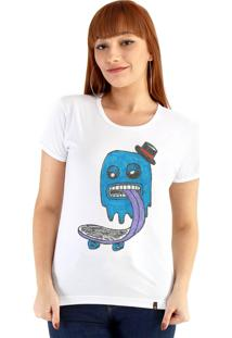 Blusa Ouroboros Blue Ghost Skater Branco