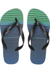 Chinelo Calvin Klein Listras Azul