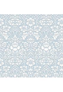 Papel De Parede Renda Azul (950X52)