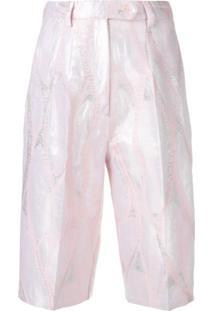 Atu Body Couture Bermuda Metálica - Rosa
