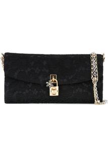 Dolce & Gabbana Clutch Modelo 'Dolce' - Preto