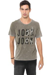 Camiseta John John Lettering Verde