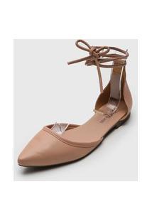 Sapatilha Dafiti Shoes Amarração Nude