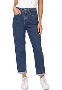 Calça Jeans Calvin Klein Jeans Reta Pespontos Azul