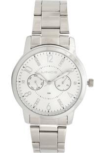 88c0a02d165 Relógio Digital Inox Lince feminino