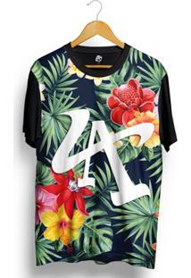Camiseta Bsc La Flower Full Print - Masculino-Preto