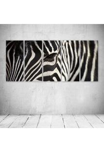 Quadro Decorativo - Face Zebra - Composto De 5 Quadros