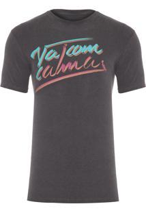 Camiseta Masculina Estampada Com Alma - Cinza