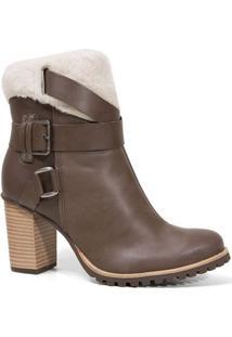 Bota Tanara T0281 Ankle Boot Feminina Rato