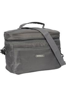 Bolsa Tã©Rmica Texturizada- Cinza Escuro- 17X24,5X13Cmc Queen