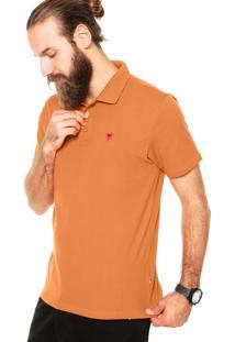 Camisa Polo Cavalera Básica Clássica Laranja