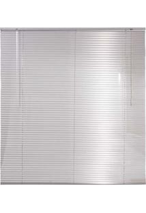 Persiana Horizontal Em Alumínio 25Mm Microperfurado 1,40Larg X 1,60Alt Prata