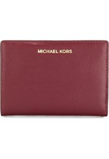 Michael Michael Kors Carteira 'Jet Set' Slim - Vermelho