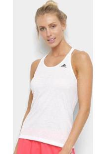 Regata Adidas Prime 3 Stripes Feminina - Feminino-Branco