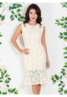 594fe510d Vestido Off White Poliamida feminino | Gostei e agora?