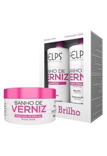 Kit Home Care Banho De Verniz Felps Shampoo 250Ml+Condicionador 250Ml+Máscara 300G