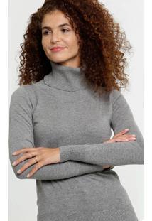 Suéter Feminino Básico Gola Alta