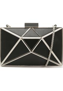 Clutch Cristal Leather Black | Schutz