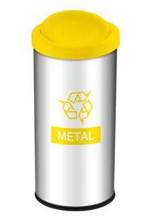 Lixeira Seletiva Brinox 3100/204 Metal Amarelo - 40,5 L