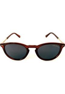 Óculos De Sol Cayo Blanco Redondo Feminino - Feminino-Vermelho