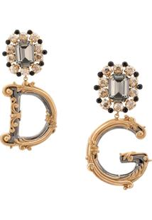 Dolce & Gabbana Logo Earrings - Dourado