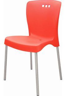 Cadeira Mona Base Aluminio Anodizado Vermelho - 20056 - Sun House
