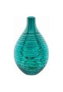 Garrafa Decorativa Vidro Azul Swirl 25X15X15Cm