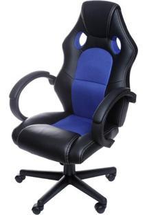 Cadeira Office Gamer- Preta & Azul- 117Cmx60X51Cm