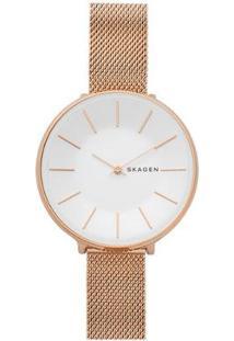 Relógio Skagen Ladies Karolina Feminino - Feminino-Bronze