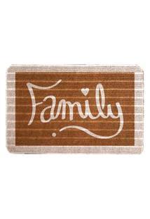 Capacho Carpet Family Marrom Único Love Decor