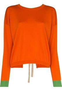 Marni Suéter Com Amarração Posterior - Laranja