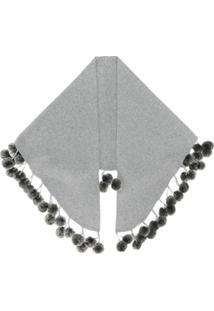 N.Peal Cachecol De Cashmere - Cinza