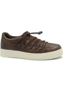Sapatênis Zariff Shoes Em Couro Masculino - Masculino-Marrom