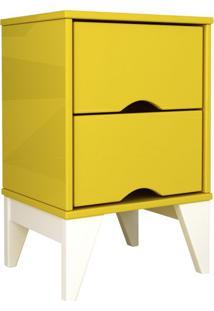 Criado-Mudo Twister 2 Gv Amarelo Com Branco