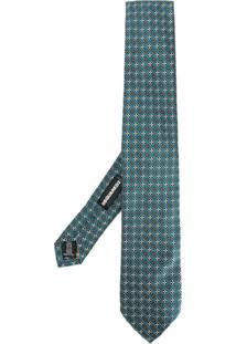 Dsquared2 Gravata De Seda Com Padronagem - Azul