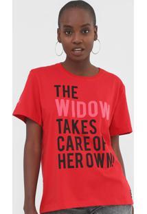 Camiseta Forum Lettering Marvel Vermelha