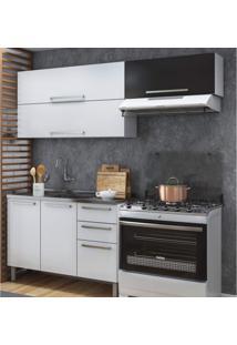 Cozinha Compacta 3 Peças 5 Portas 3 Gavetas Itatiaia Branco/Preto