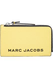 Marc Jacobs Carteira The Bold Color Block Pequena Com Zíper - Amarelo