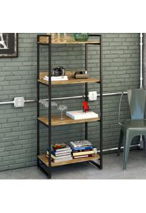 Estante Para Livros 4 Prateleiras Carvalho 8391 - Compace
