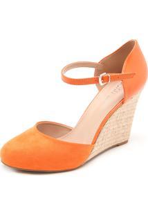 Sandália Dafiti Shoes Anabela Laranja