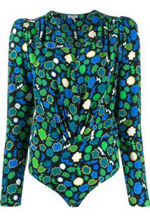P.A.R.O.S.H. Body Mangas Longas Estampado - Verde